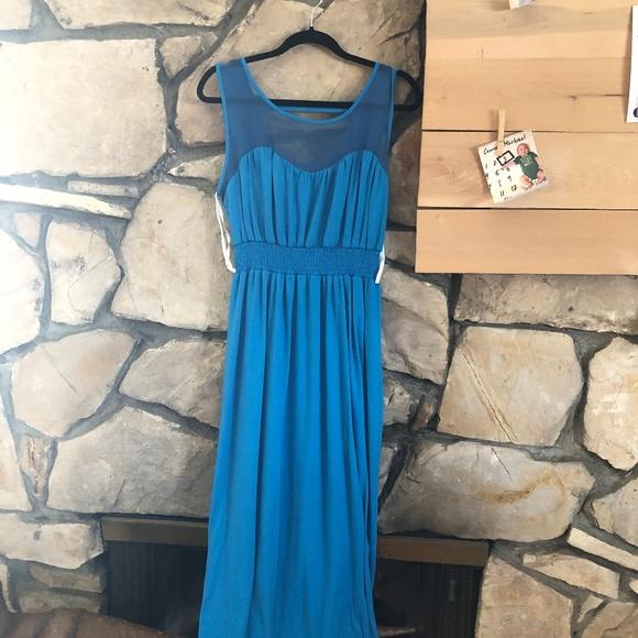 Wrapper Dresses & Skirts - Wrapper Blue Midi-Dress